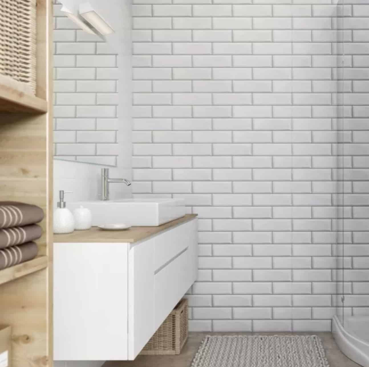 White brick living