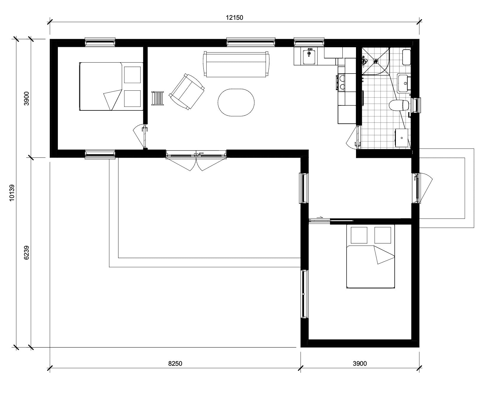 72m2 floorplan