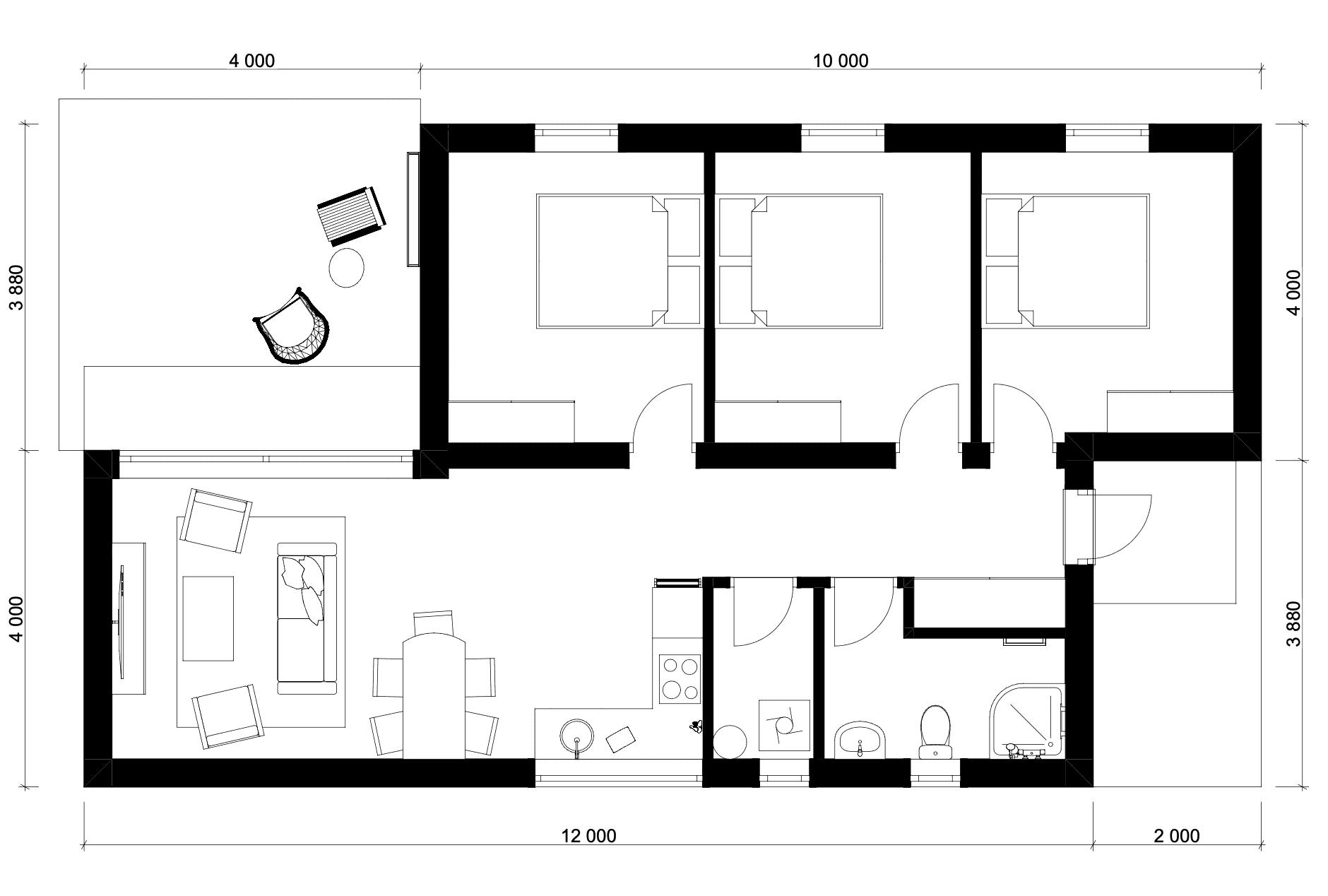 87 m2 Floorplan